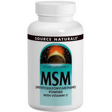 Source Naturals, MSM (Methylsulfonylmethane) Powder, with Vitamin C, 8oz (227g)