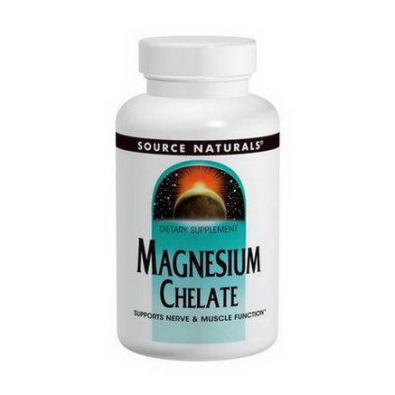 Source Naturals, Magnesium Chelate, 100mg, 250 Tablets