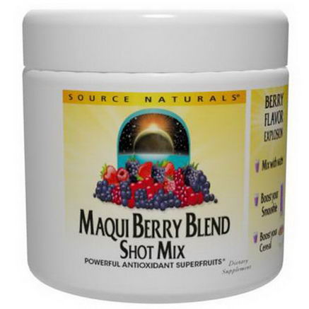 Source Naturals, Maqui Berry Blend Shot Mix, 3.53oz (100g)