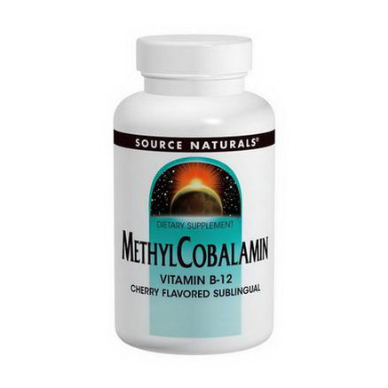Source Naturals, MethylCobalamin, Cherry Flavored, 5mg, 60 Tablets