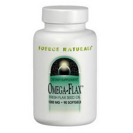Source Naturals, Omega-Flax, 1, 000mg, 90 Softgels