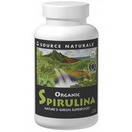 Source Naturals, Organic Spirulina, 500mg, 200 Tablets