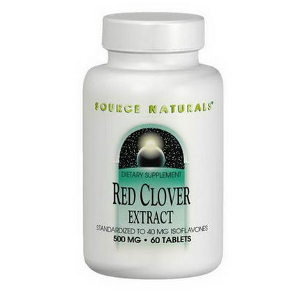 Source Naturals, Red Clover Extract, 500mg, 60 Tablets