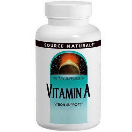 Source Naturals, Vitamin A, 10, 000 IU, 100 Tablets