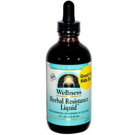 Source Naturals, Wellness Herbal Resistance Liquid, 4 fl oz (118.28 ml)