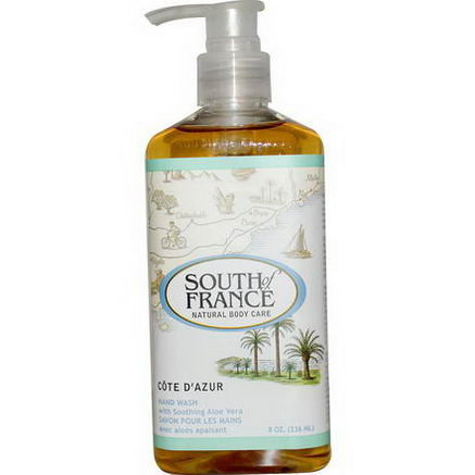 South of France, Cote D' Azur, Hand Wash with Soothing Aloe Vera, 8oz (236 ml)