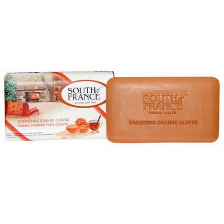 South of France, French Milled Soap, Simmering Orange Cloves, 3.5oz (99g)