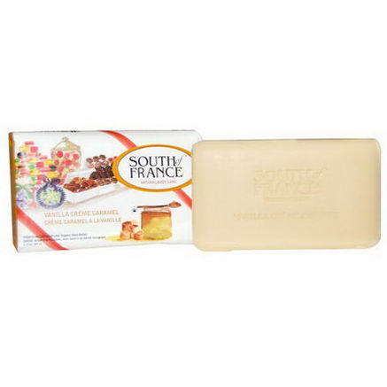 South of France, French Milled Soap, Vanilla Creme Caramel, 3.5oz (99g)