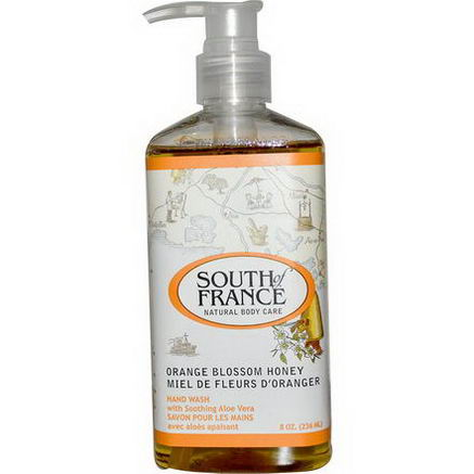 South of France, Orange Blossom Honey, Hand Wash with Soothing Aloe Vera, 8oz (236 ml)