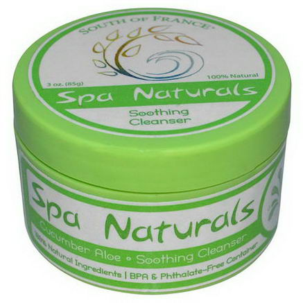 Spa Naturals, Soothing Cleanser, Cucumber Aloe, 3oz (85g)