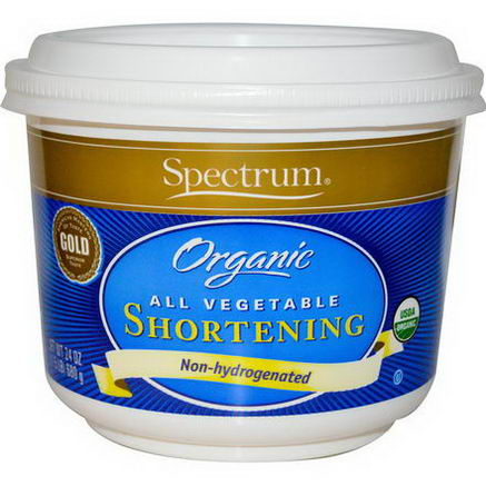 Spectrum Naturals, Organic All Vegetable Shortening, 24oz (680g)