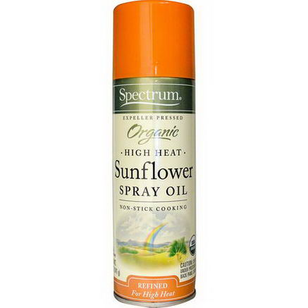 Spectrum Naturals, Organic High Heat, Sunflower Spray Oil, 5oz (141g)