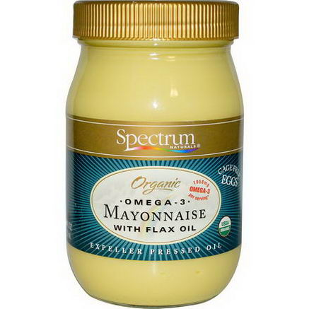 Spectrum Naturals, Organic Omega-3 Mayonnaise with Flax Oil, 16 fl oz (473 ml)