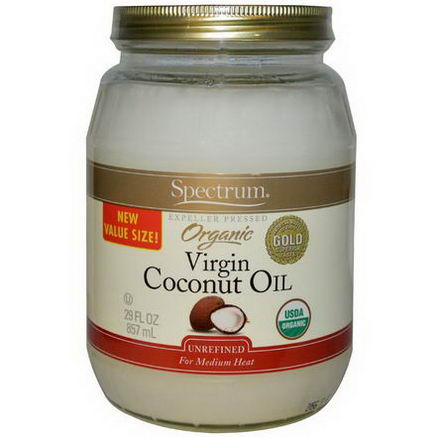 Spectrum Naturals, Organic Virgin Coconut Oil, Unrefined, 29 fl oz (857 ml)