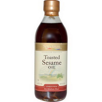 Spectrum Naturals, Toasted Sesame Oil, Unrefined, 16 fl oz (473 ml)