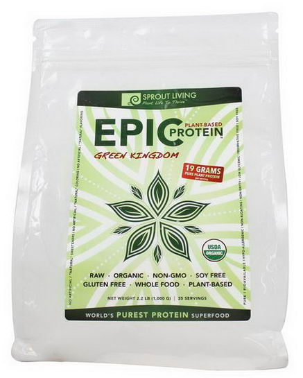 Sprout Living, Epic Protein, Green Kingdom, 2.2 lbs (1, 000g)