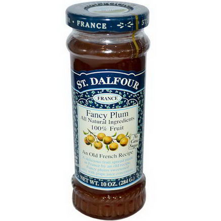 St. Dalfour, Fancy Plum, Fruit Spread, 10oz (284g)