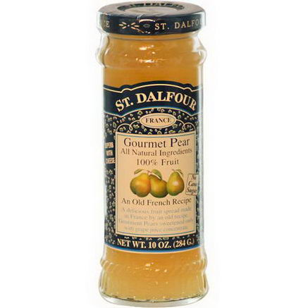 St. Dalfour, Gourmet Pear, 100% Fruit Spread, 10oz (284g)