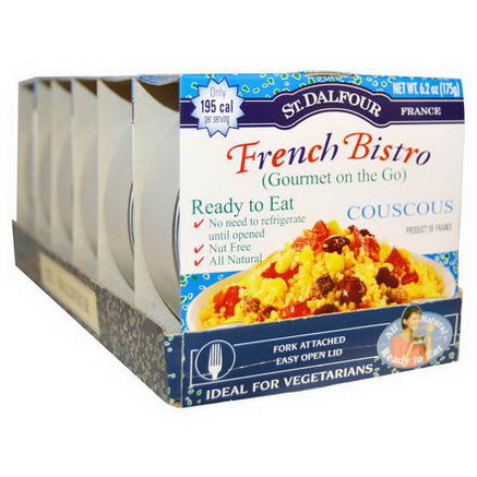 St. Dalfour, Gourmet on the Go, French Bistro, Couscous, 6 Pack, 6.2oz (175g) Each
