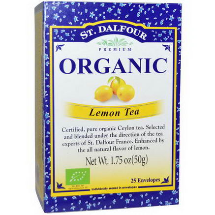 St. Dalfour, Organic, Lemon Tea, 25 Envelopes, 1.75oz (50g)
