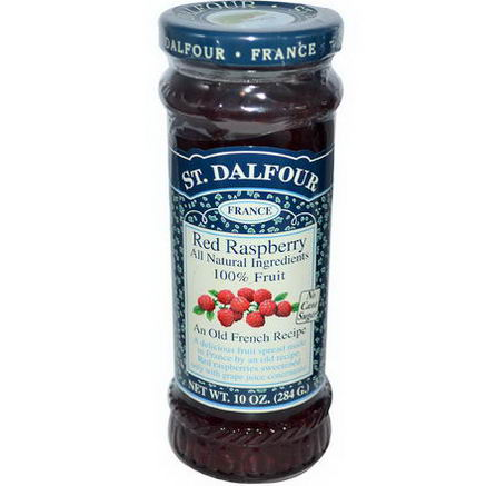 St. Dalfour, Red Raspberry, Fruit Spread, 10oz (284g)