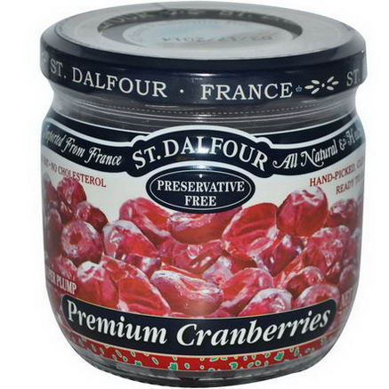 St. Dalfour, Super Plump Premium Cranberries, 7oz (200g)