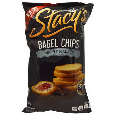 Stacy's, Bagel Chips, Simply Naked, 8oz (226.8g)