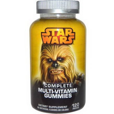 Star Wars, Hero, Complete Multi-Vitamin Gummies, Tropical, Fruit Punch and Orange, 120 Pieces