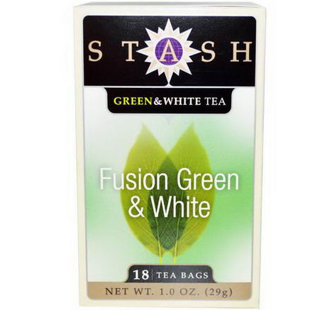 Stash Tea, Premium, Fusion Green & White Tea, 18 Tea Bags, 1.0oz (29g)