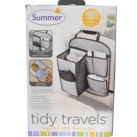 Summer Infant, Tidy Travels Organizer with Change Pad, 1 Set