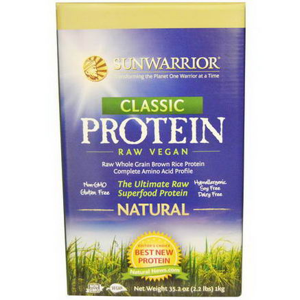 Sun Warrior, Classic Protein, The Ultimate Raw Superfood Protein, Natural, 35.2oz (2.2 lbs)
