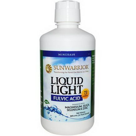 Sun Warrior, Liquid Light, Fulvic Acid, 32 fl oz (946.4 ml)