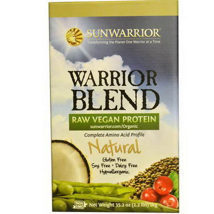 Sun Warrior, Warrior Blend, Raw Vegan Protein, Natural, 35.2oz (1 kg)