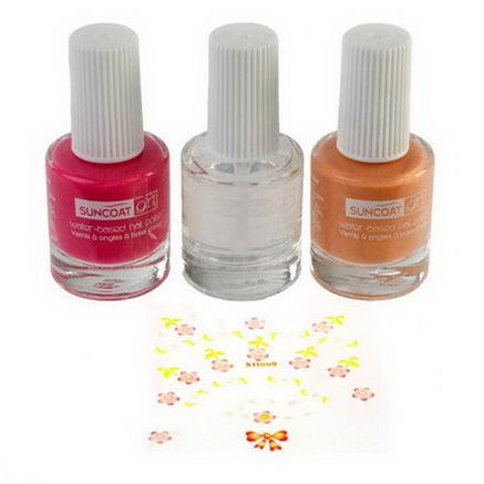Suncoat Girl, Natural Nail Beauty Kit, Water-Based Nail Polishes, Pretty Me, 3 Piece Kit