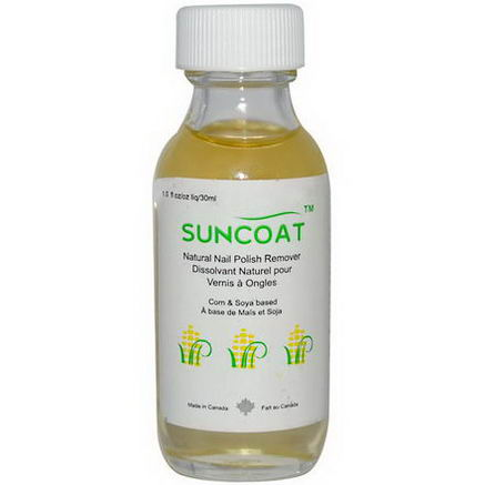 Suncoat, Natural Nail Polish Remover, 1 fl oz (30 ml)