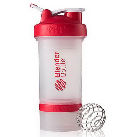 Sundesa, BlenderBottle ProStak, Red, 22oz