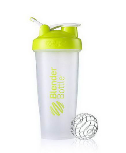 Sundesa, Classic Blender Bottle with Loop, Lime Green, 28oz Bottle