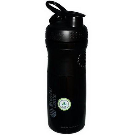 Sundesa, SportMixer Blender Bottle, Black/Black, 28oz