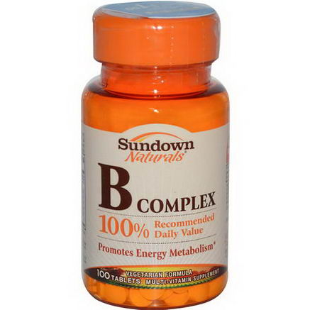 Rexall Sundown Naturals, B Complex, 100 Tablets