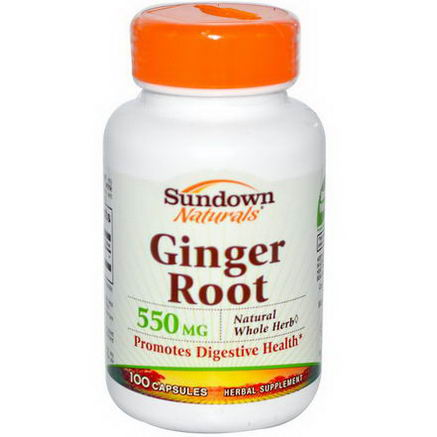 Rexall Sundown Naturals, Ginger Root, 550mg, 100 Capsules