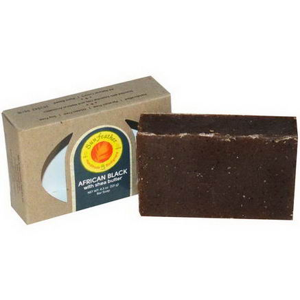 Sunfeather Soaps, African Black Soap Bar, 4.3oz (121g)