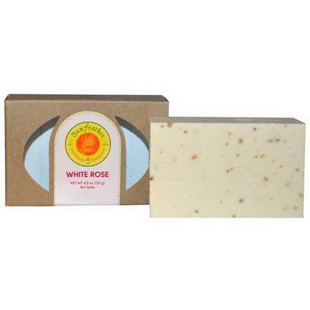 Sunfeather Soaps, Bar Soap, White Rose, 4.3oz (121g)