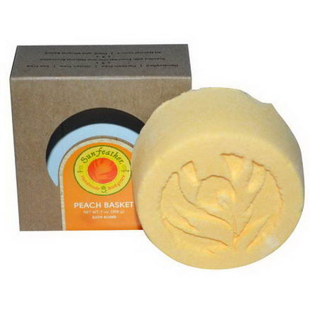 Sunfeather Soaps, Bath Ball, Peach Basket, 7oz (198g)