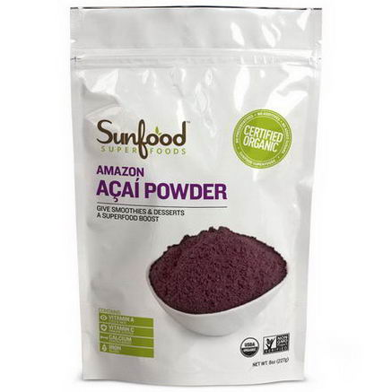 Sunfood, Amazon Acai Powder, 8oz (227g)