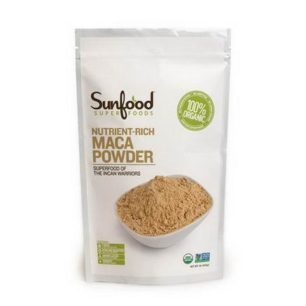 Sunfood, Maca Powder, Raw, 1 lb (454g)