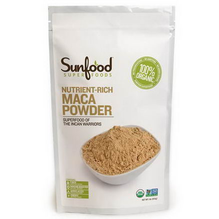 Sunfood, Nutrient-Rich Maca Powder, 8oz (227g)