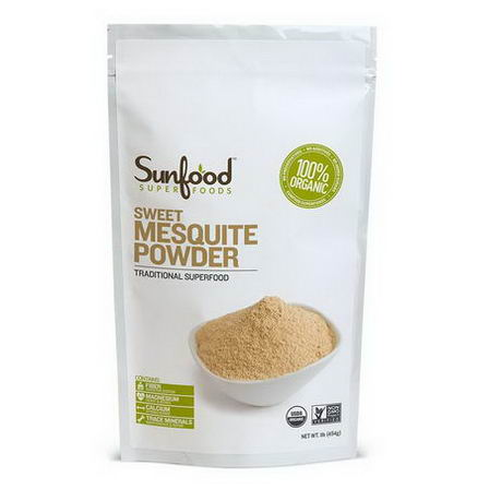 Sunfood, Organic, Sweet Mesquite Powder, 1 lb (454g)