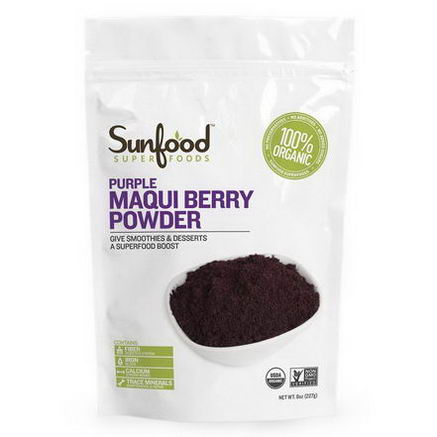 Sunfood, Purple Maqui Berry Powder, 8oz (227g)