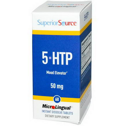 Superior Source, 5-HTP, 50mg, 60 MicroLingual Instant Dissolve Tablets