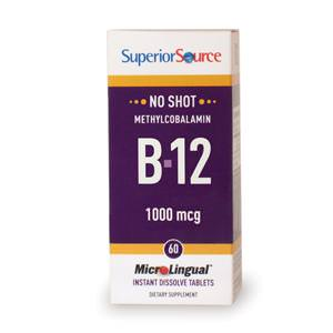 Superior Source, MicroLingual, Methylcobalamin B-12, 1000 mcg, 60 Instant Dissolve Tablets